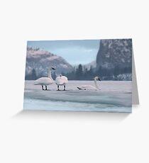 Trumpeters on Swan Lake  Greeting Card
