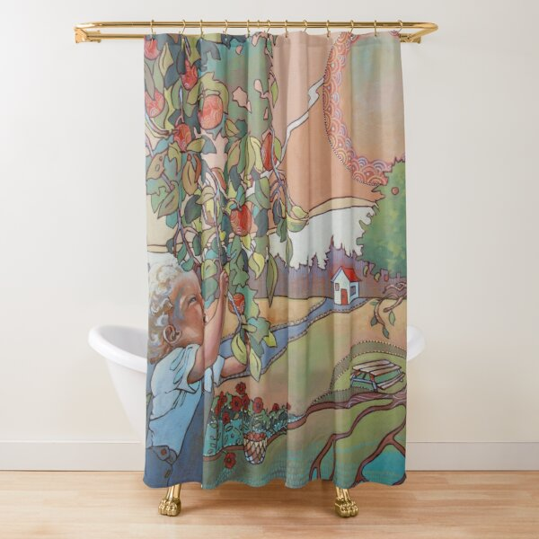 Colorful vintage style design Shower Curtain