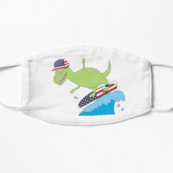 American Flag Dinosaur Surfing Mask