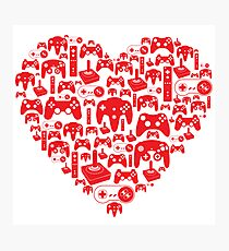 Gaming Love Photographic Print