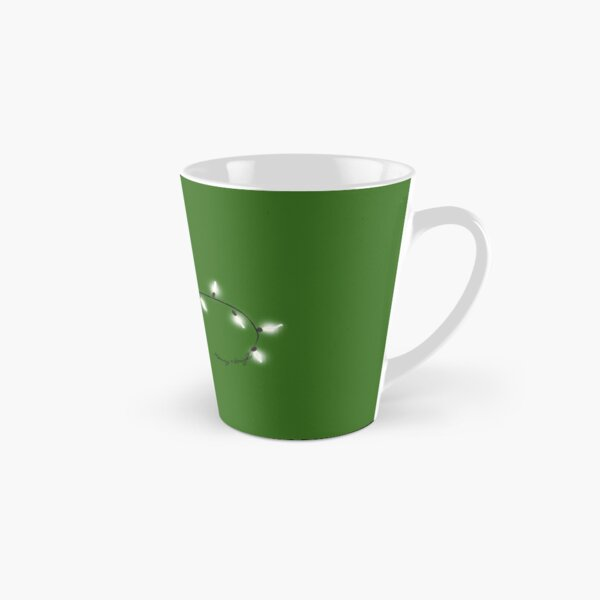 Merry & Bright [White on Green] Tall Mug