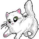White baby persian cat by Furiarossa