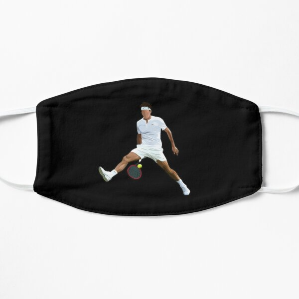 Roger Federer Between the Legs Flat Mask