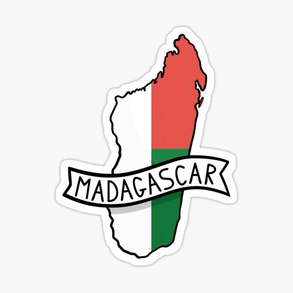 Madagascar Flag Map Sticker Sticker