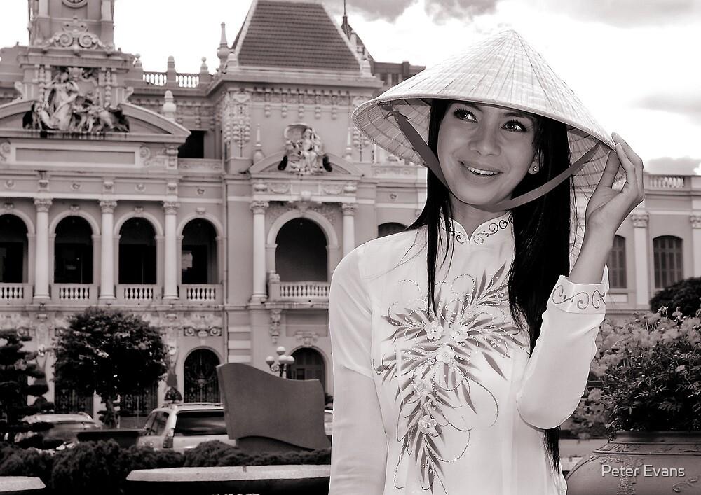 A Saigon beauty in Ao dai by Peter Evans