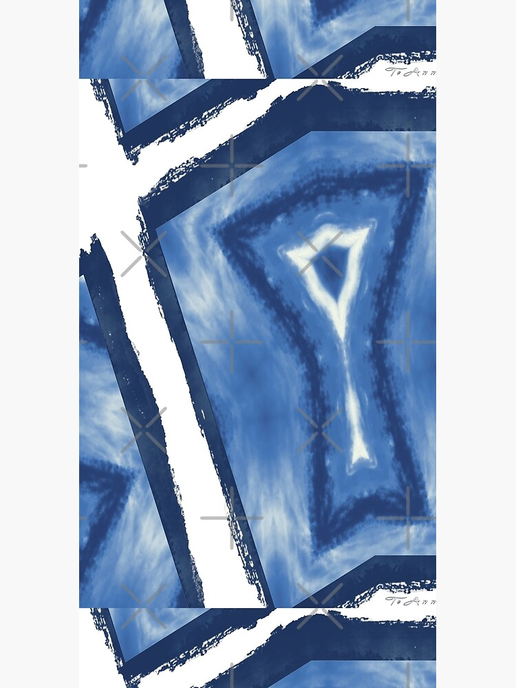 Blue and white pattern digital from photograph by TeAnne