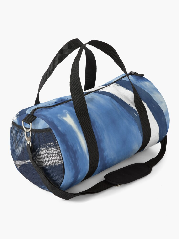 Alternate view of Blue and white pattern digital from photograph Duffle Bag