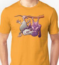 Opossum and Bat in Love Unisex T-Shirt