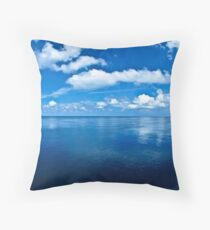 Over a Blue Horizon Throw Pillow
