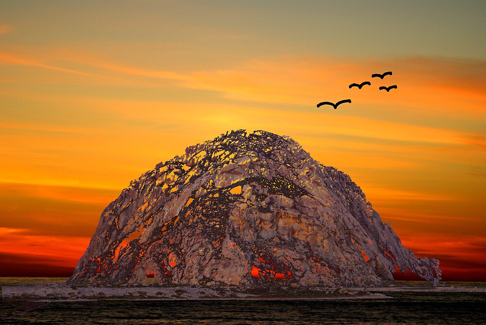 Morro Rock 3007 by BarbaraSnyder