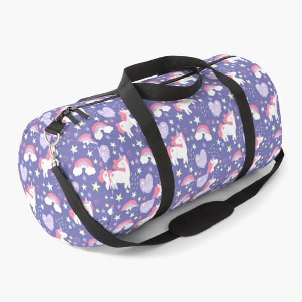 Copy of Colorful Doodle Unicorn Words Pattern Duffle Bag