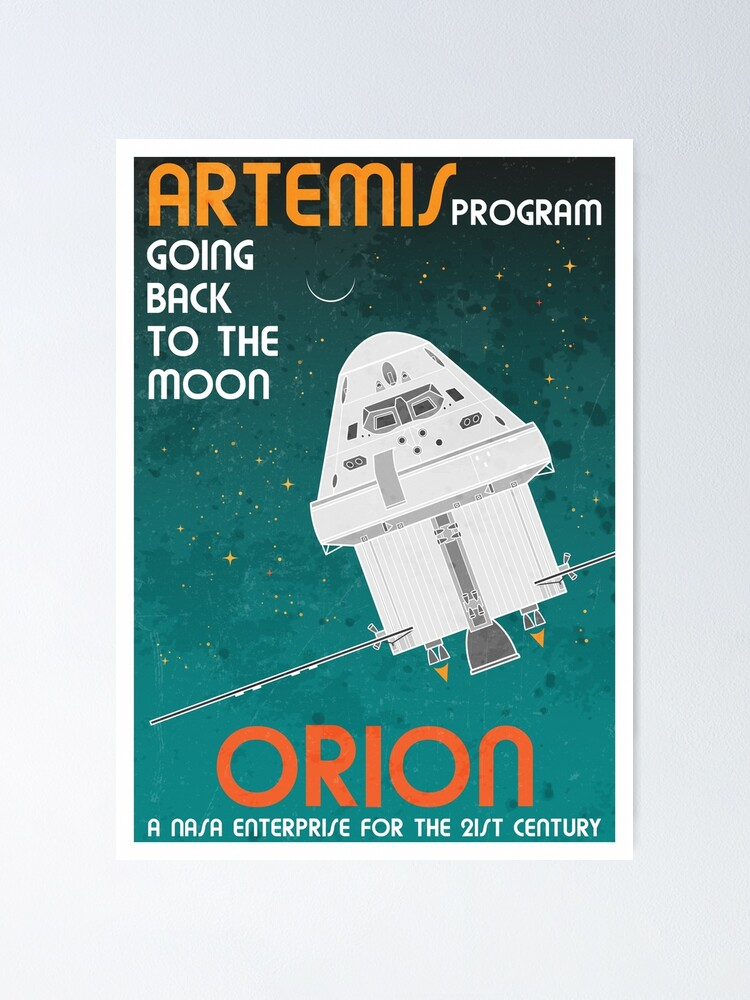 Alternate view of Orion. Artemis Program: Going Back To The Moon Poster
