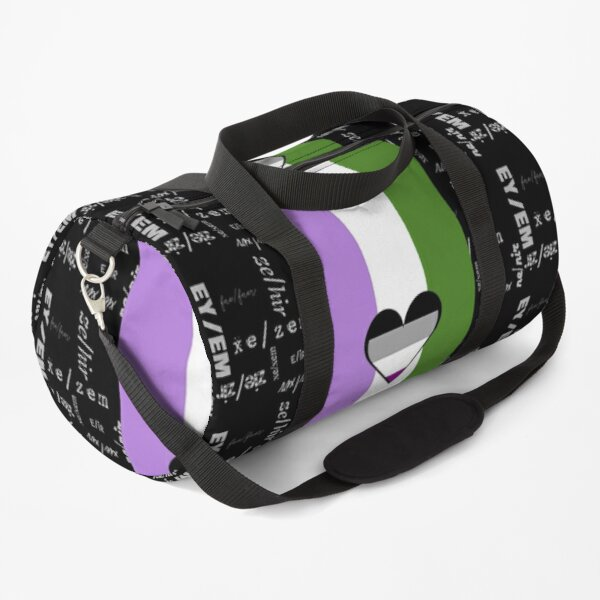 Genderqueer Ace, Gender-Neutral Pronouns - Identity Pride Duffle Bag
