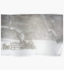Snow still softly falling Poster