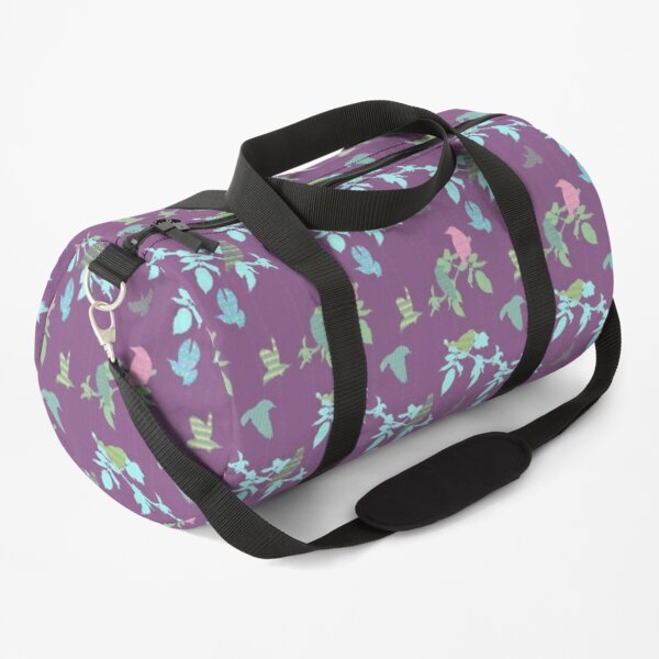 Shetland Starling - purple background  Duffle Bag