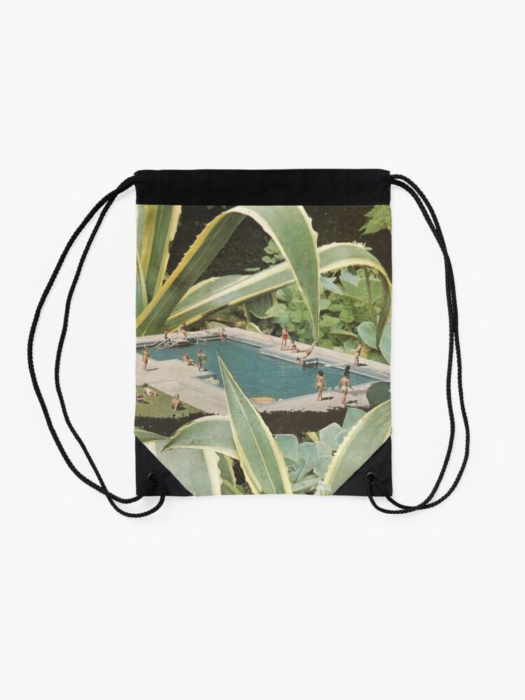 Alternate view of Swimming pool fun Drawstring Bag