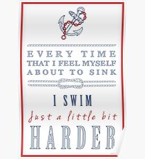 Inspirational Typography with a Nautical Theme Poster