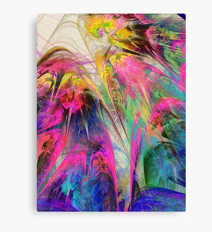 Fractal - Tropical Flowers Canvas Print