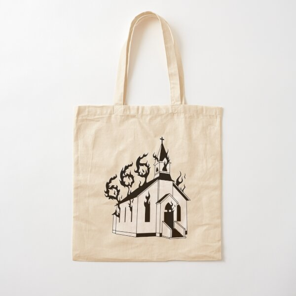Version 2.0 Hand Painted Burning Castle Tote Bag