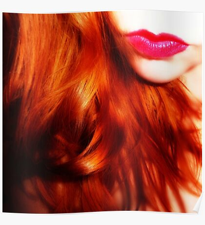 lips and hair Poster