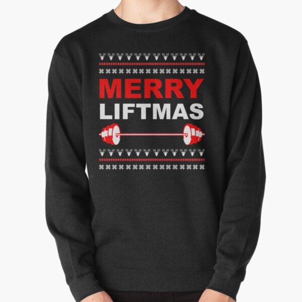 Merry Liftmas, Weightlifting Christmas Ugly Sweater Pullover Sweatshirt