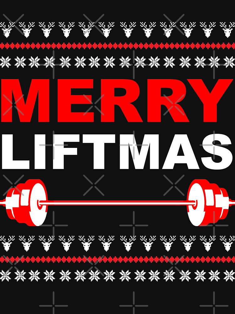 31f8e4fd TShirtGifter presents: Merry Liftmas, Weightlifting Christmas Ugly Sweater  | Long Sleeve