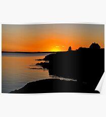 Sunset at Blue Rocks Poster