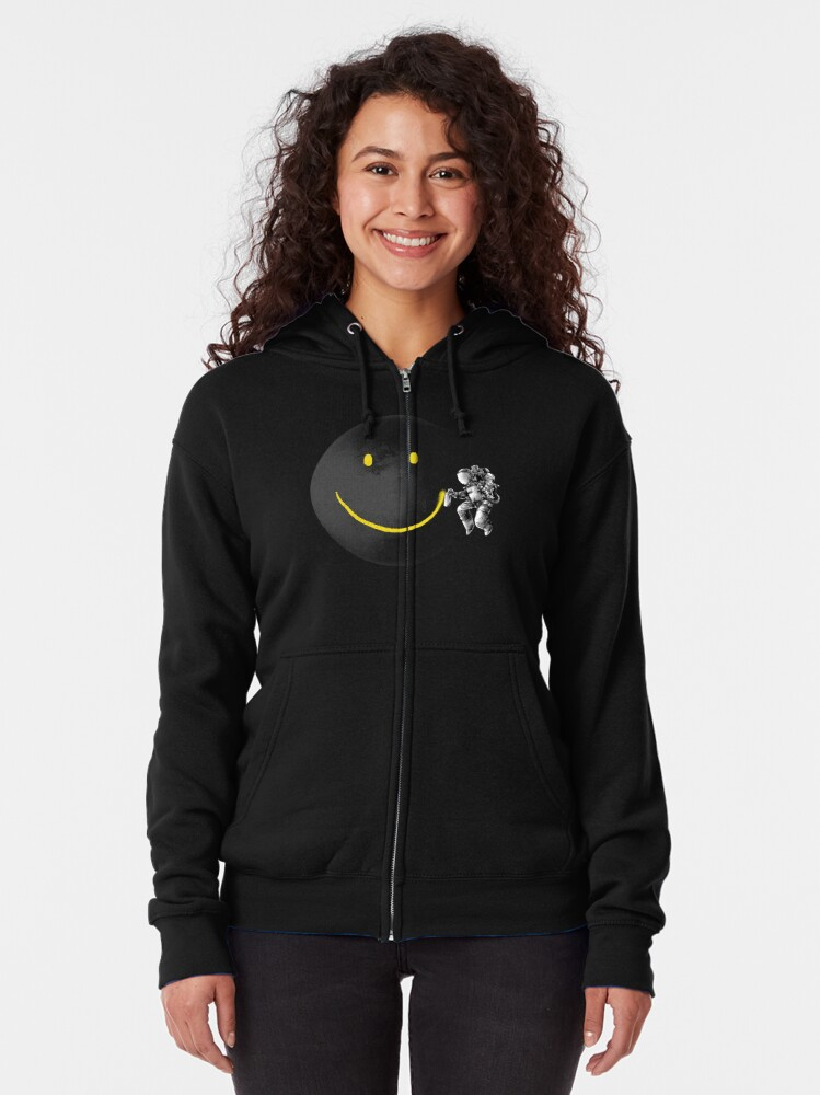 Alternate view of Make a Smile Zipped Hoodie