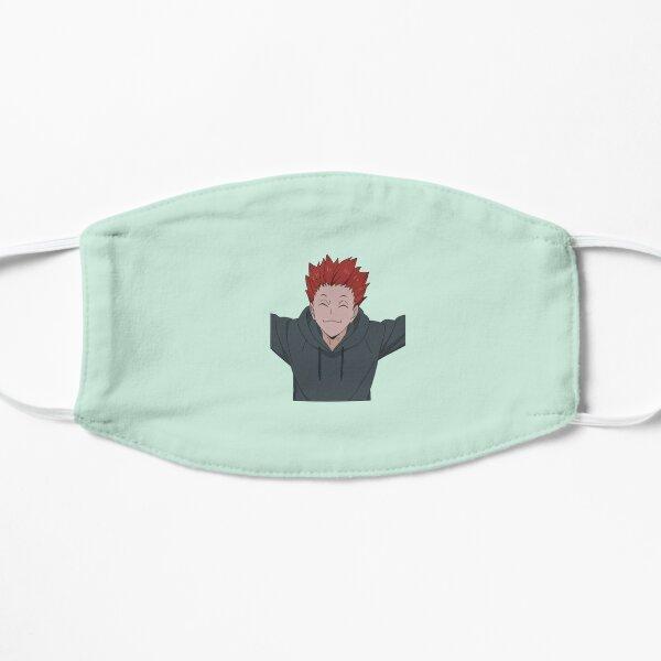 tendou in his hoodie Flat Mask