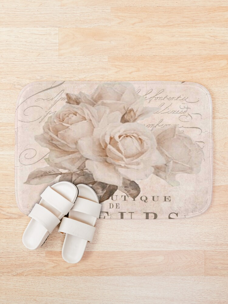 Alternate view of french vintage roses Bath Mat