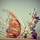 Fish Kissing Coral Reef by kalikristine