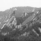 Second and Third Flatirons Boulder Colorado BW by Bo Insogna