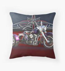 1979 Harley-Davidson Shovelhead Trike Throw Pillow