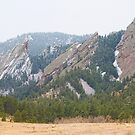 Three Flatirons Boulder Colorado by Bo Insogna