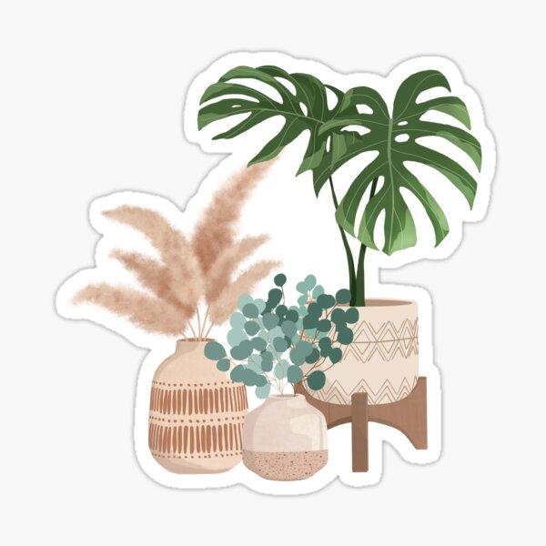 Monstera Plant Illustration Sticker