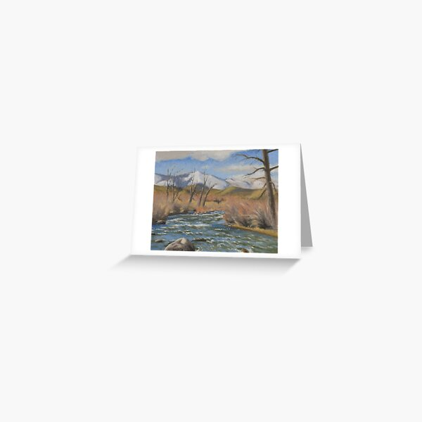 Winter Dorostkar Park (Plein-air Study) Greeting Card