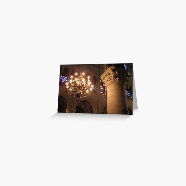 Cathedral lights Greeting Card