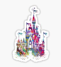 Princess Castle Watercolor Sticker