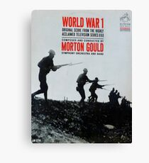 World War 1, WWI, TV Series Soundtrack album cover Canvas Print
