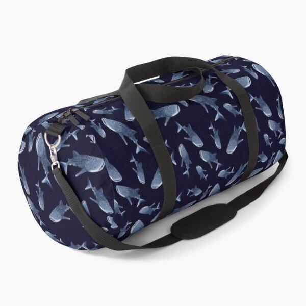WHALE SHARK PATTERN (NAVY BLUE) Duffle Bag