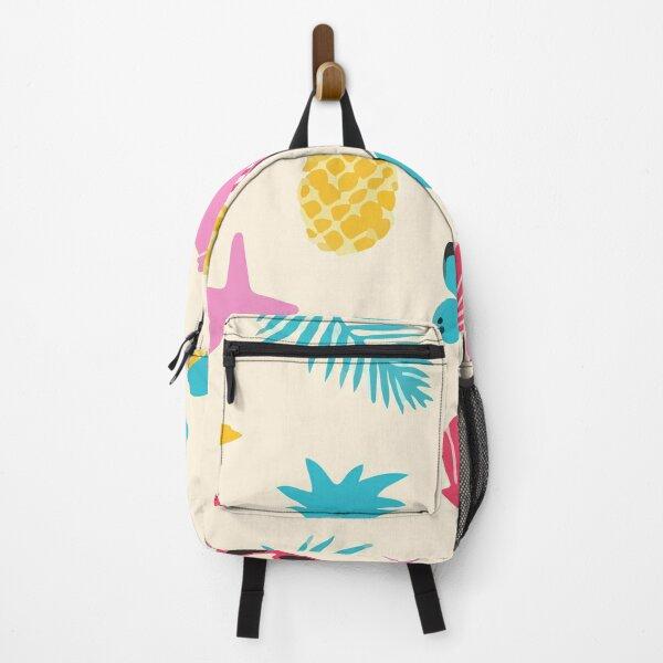 Beach objects pattern Backpack