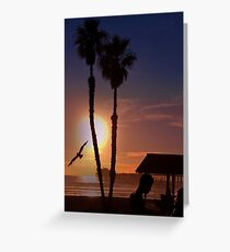 Another Sunset on the Ocean Greeting Card