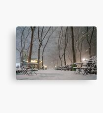 Winter Wonderland - Bryant Park - New York City Canvas Print
