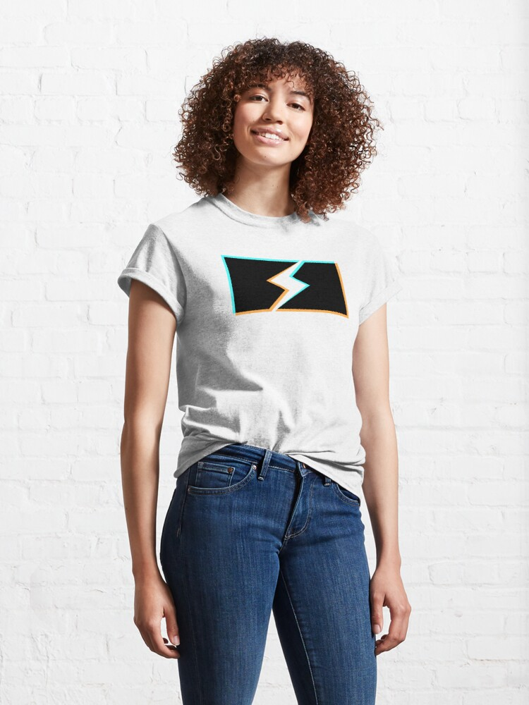 Alternate view of bolt stencil holo graphic Classic T-Shirt