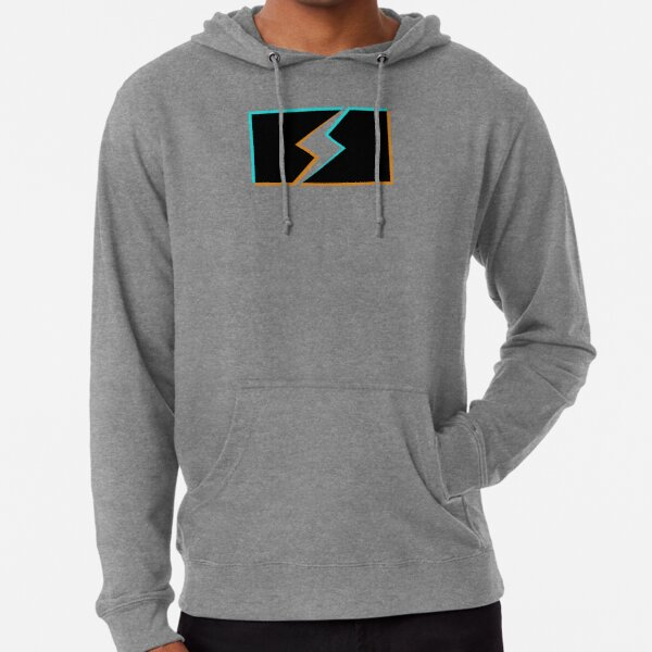 bolt stencil holo graphic Lightweight Hoodie