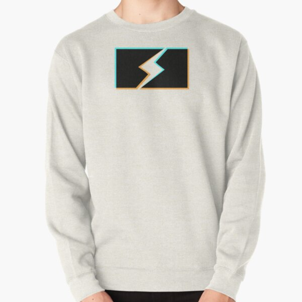 bolt stencil holo graphic - white version Pullover Sweatshirt