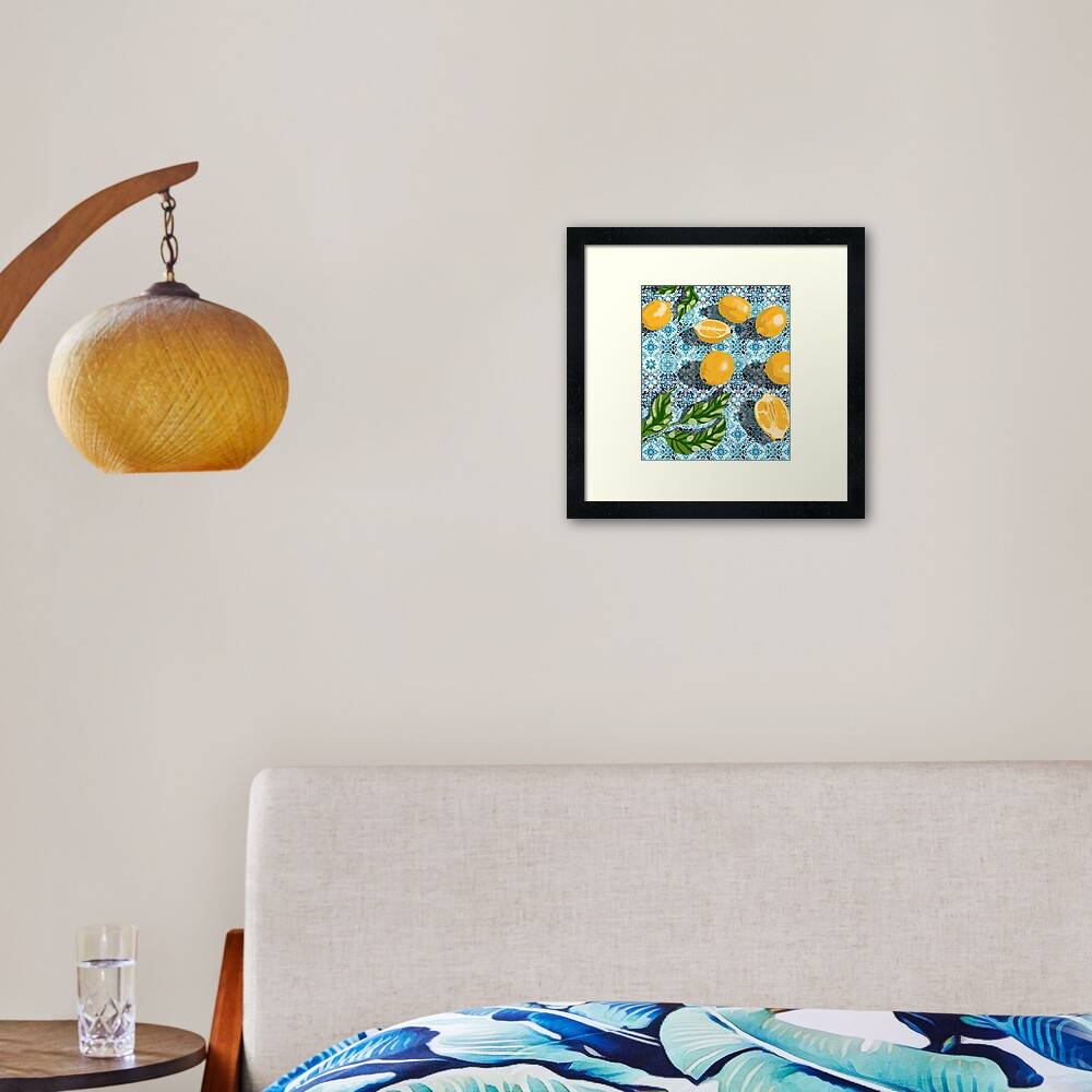 Sweet just isn't as sweet without the sour #painting Framed Art Print
