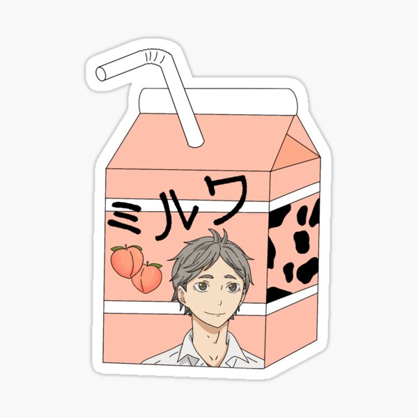Sugawara milk Sticker