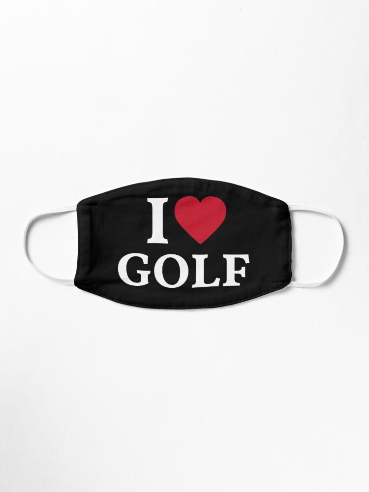 Alternate view of I Love Golf Mask