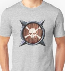Spiked Shield Skull Crossbones Logo AAARG! T-Shirt